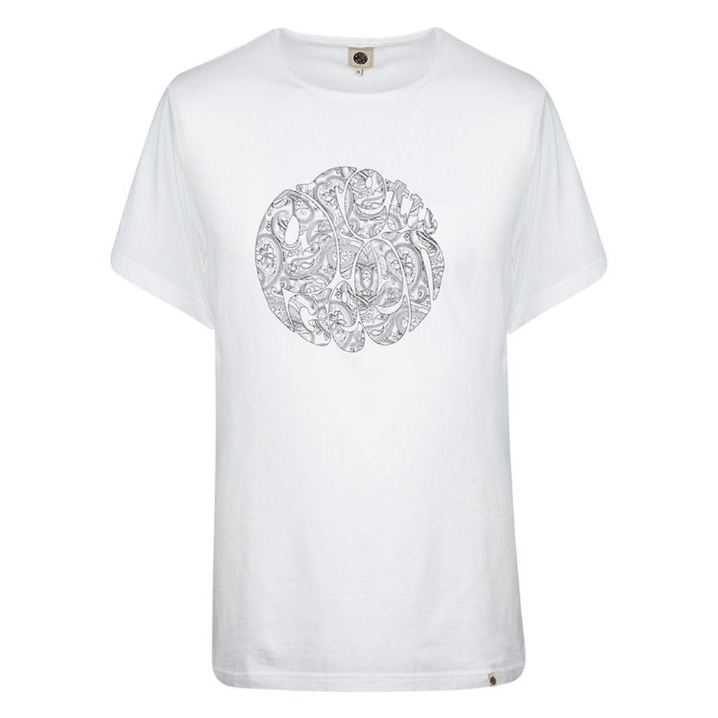 Pretty Green Men's Linear Logo T-Shirt - White - L