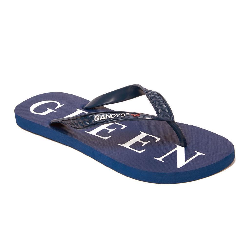 Pretty Green Men's Pg Gandys Flip Flops - Blue - L