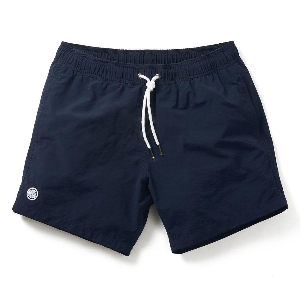 Pretty Green Men's Logo Swim Shorts - Navy - L