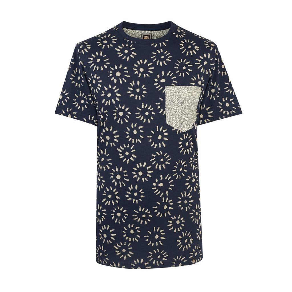 Pretty Green Men's Mayflower T-Shirt - Navy - L