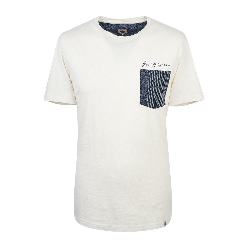 Pretty Green Men's Edgedale Pocket T-Shirt - Stone - L