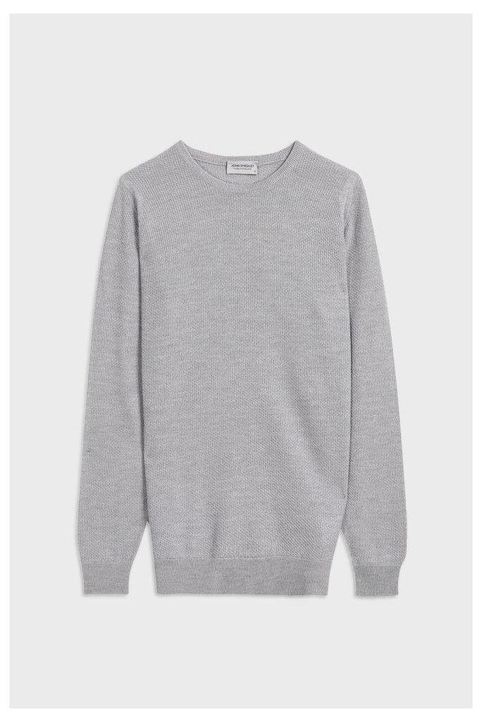 John Smedley Men`s Bardot Crew Neck Merino Wool Pullover Boutique1