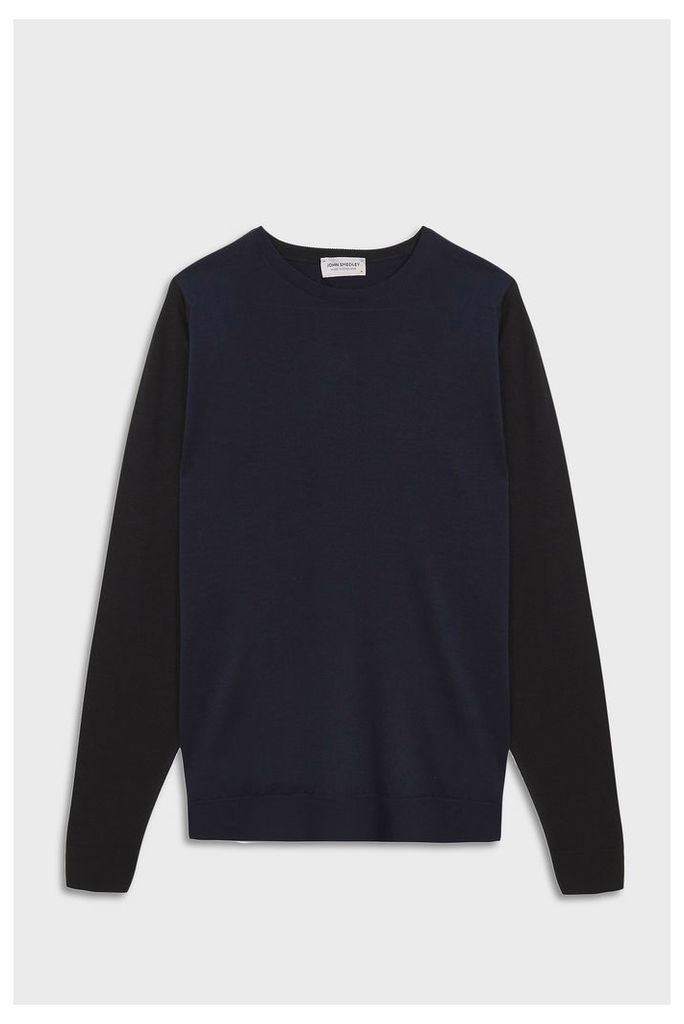 John Smedley Men`s Hindlow Crew Neck Merino Wool Pullover Boutique1
