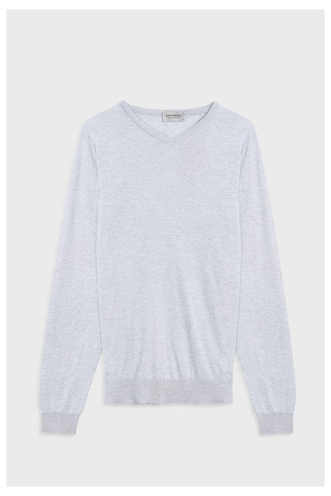John Smedley Men`s Aydon V-neck Cotton Pullover Boutique1