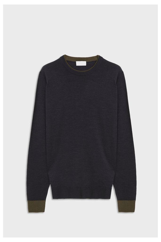 John Smedley Men`s Kenn Crew Neck Merino Wool Pullover Boutique1