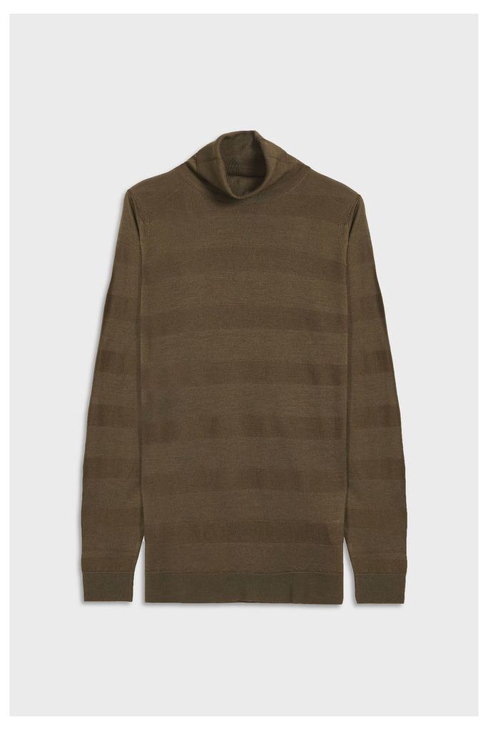 John Smedley Men`s Kielder Textured Merino Wool Pullover Boutique1