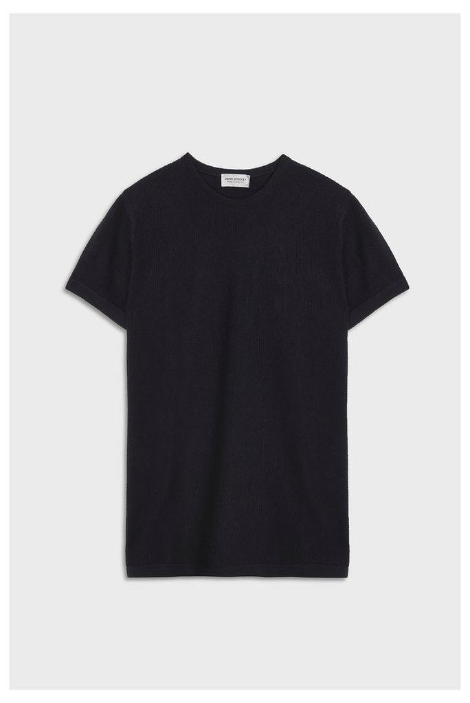 John Smedley Men`s 2.singular Crew Neck Merino Wool T-shirt Boutique1