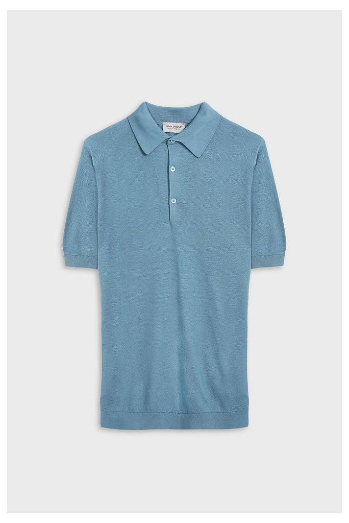 John Smedley Men`s Roth Short Sleeve Cotton Polo Shirt Boutique1