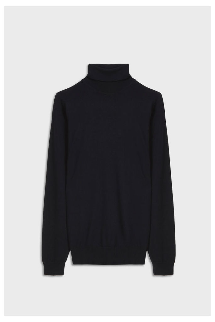 John Smedley Men`s Arlington Roll Neck Cashmere Pullover Boutique1