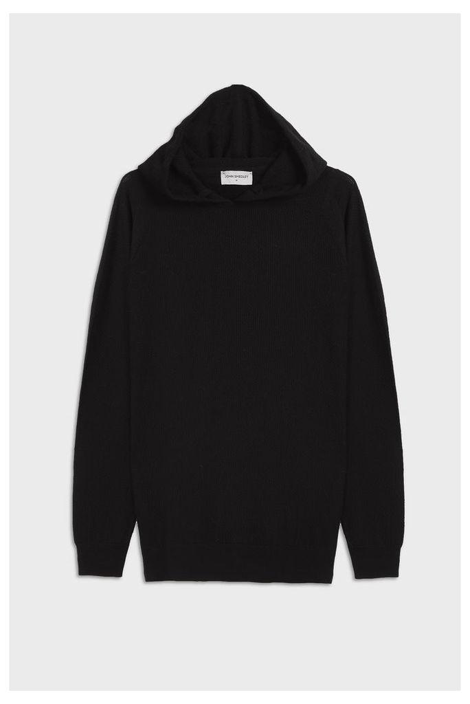 John Smedley Men`s 4.singular Textured Merino Wool Hoodie Boutique1