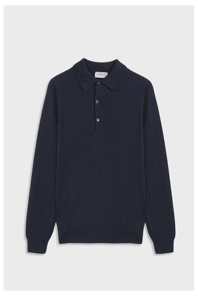 John Smedley Men`s Bradwell Polo Cotton Shirt Boutique1