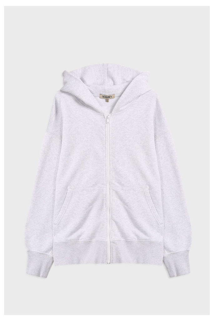 Yeezy Men`s Boxy Fit Zip Up Cotton Hoodie Boutique1