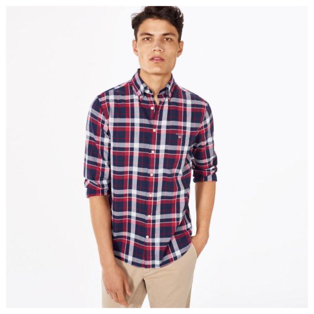 Tech Prep ™ Oxford Plaid Shirt - Clear Red