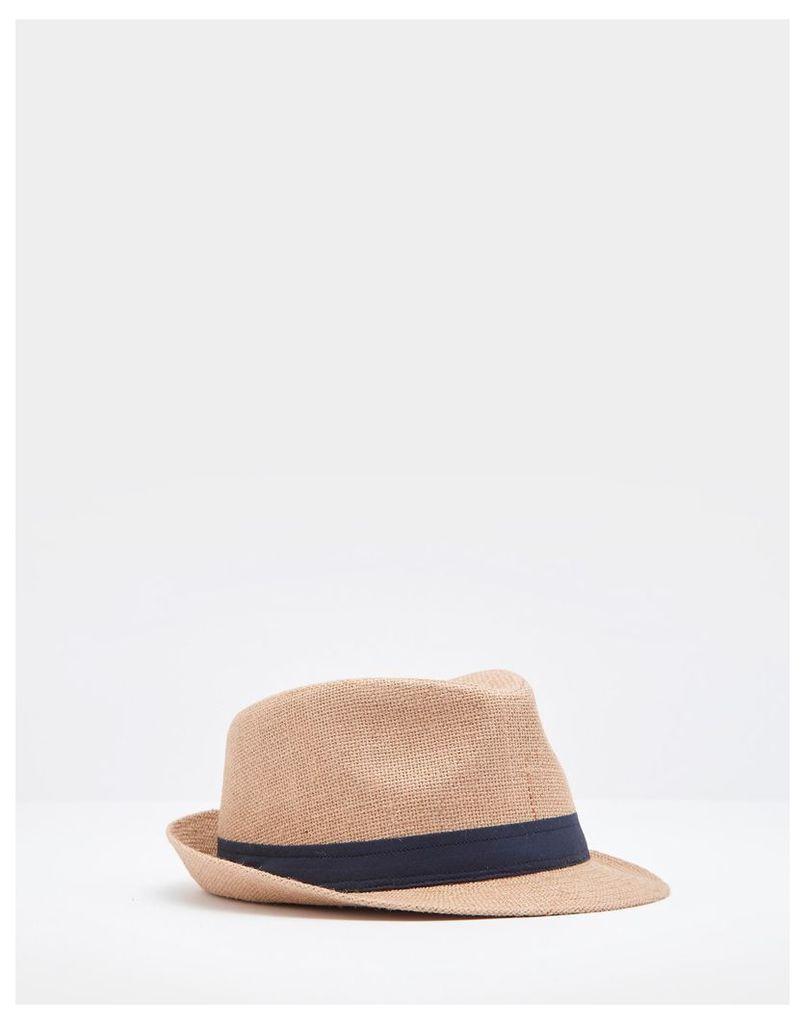 Hessian Halstow Trilby Hat  Size M/L | Joules UK