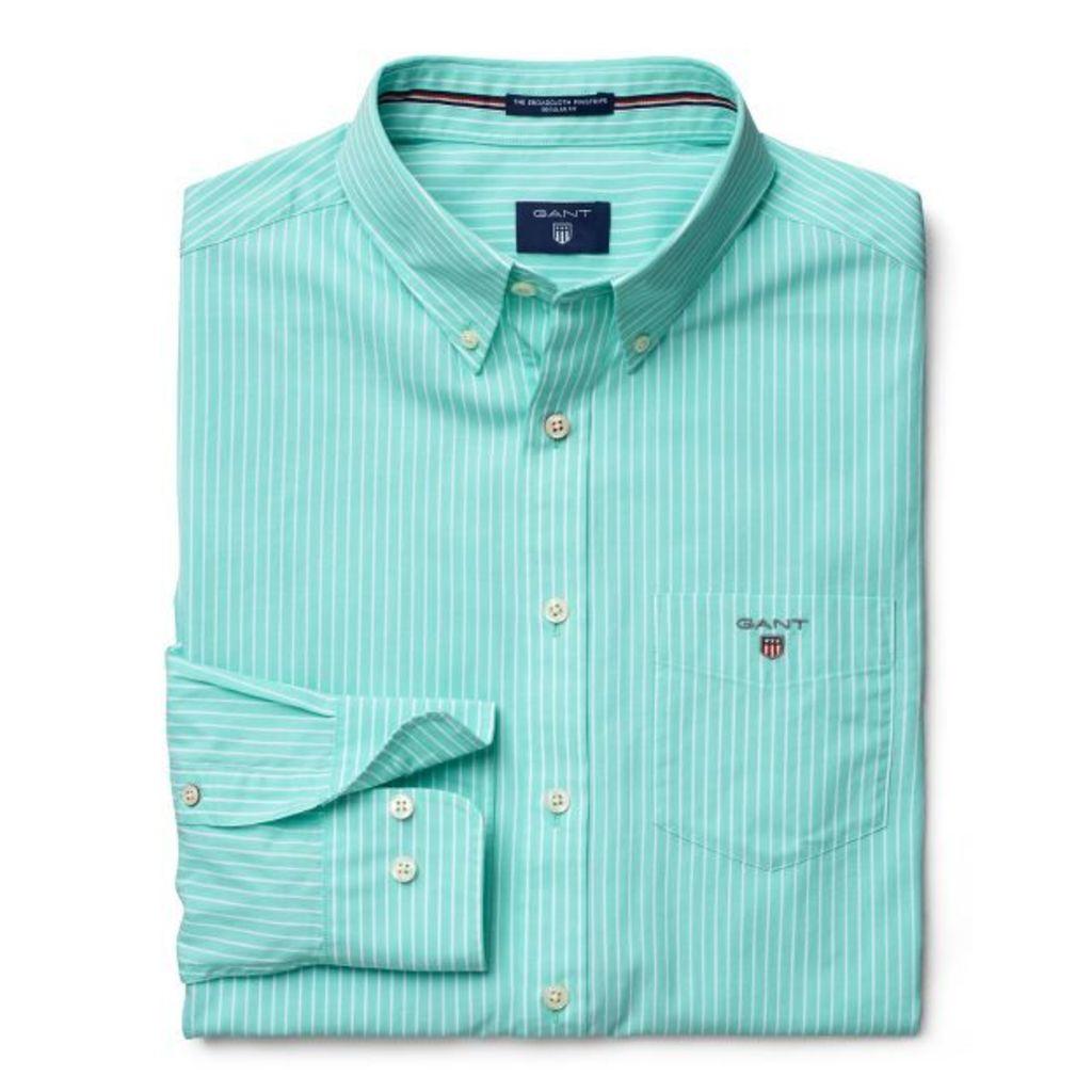 The Pinstripe Broadcloth Shirt - Opal Green