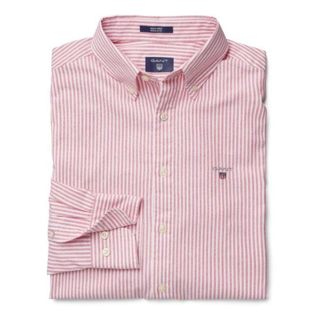 Tech Prep ™ Red Stripe Shirt - Bright Red