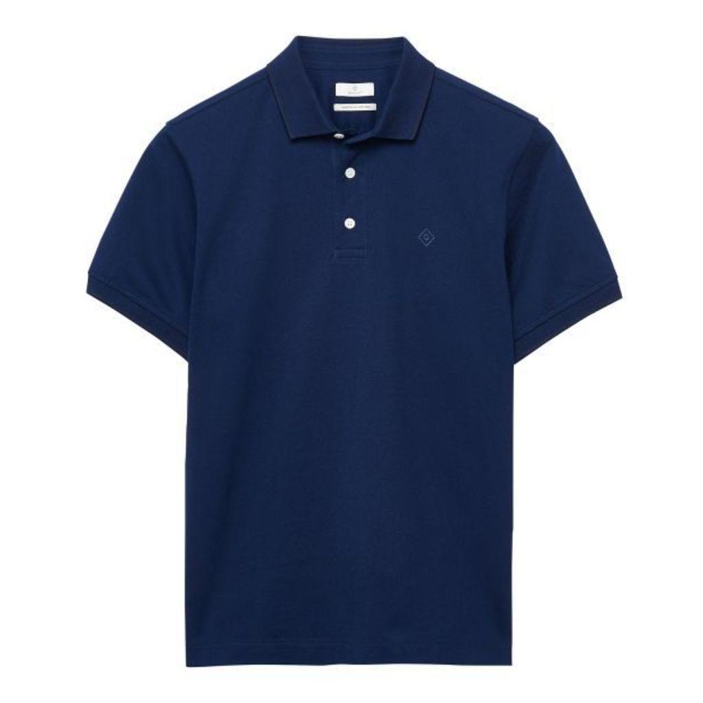 Pima Cotton Polo Shirt - Luminary Navy