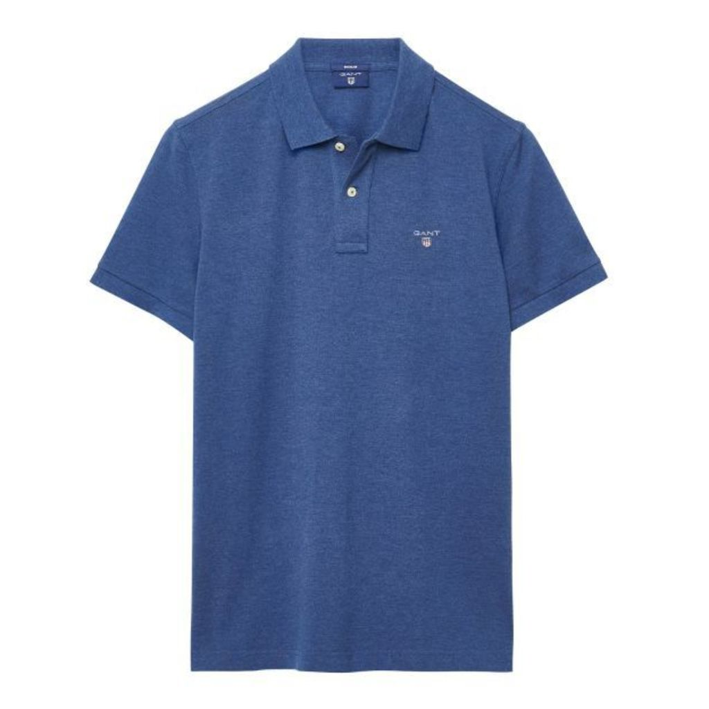 Solid Polo Shirt - Marine Melange