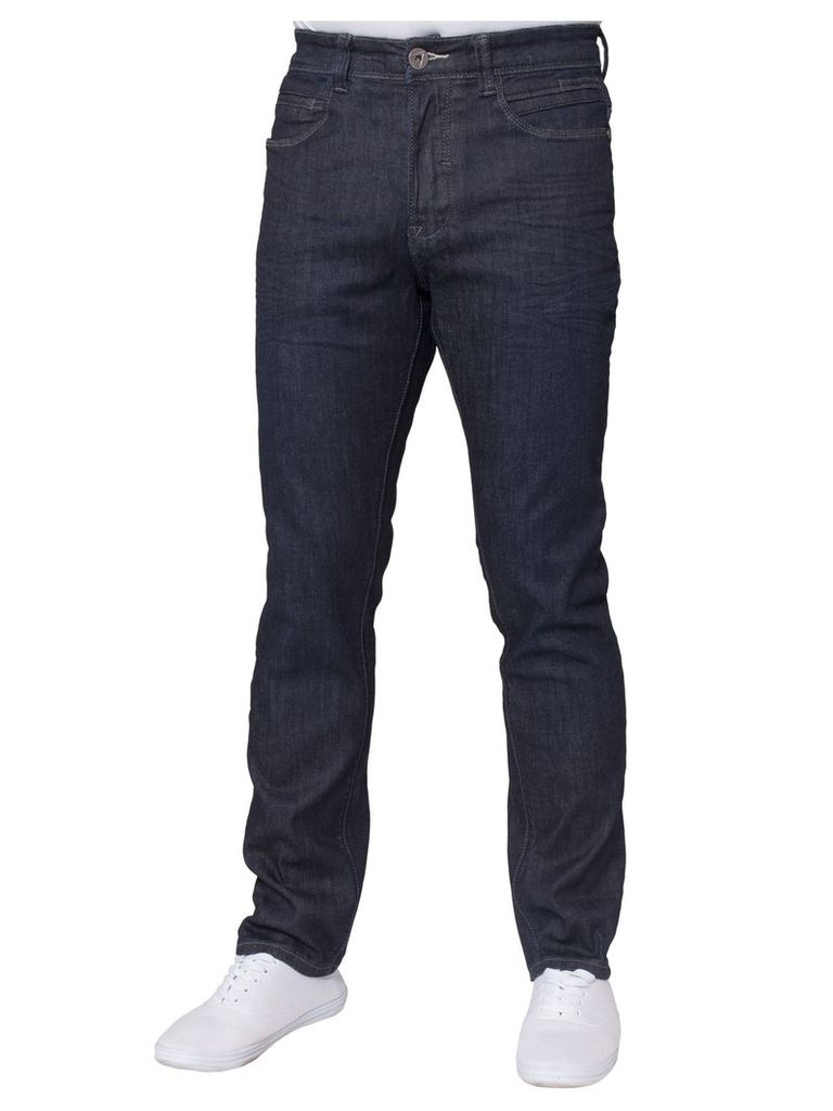 Mens Stretch Tapered Fit Jeans Dark Wash