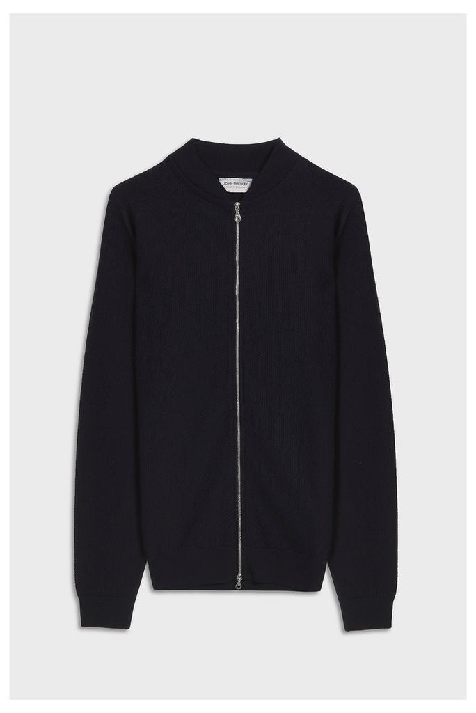 John Smedley Men`s 6.singular Bomber Merino Wool Jacket Boutique1