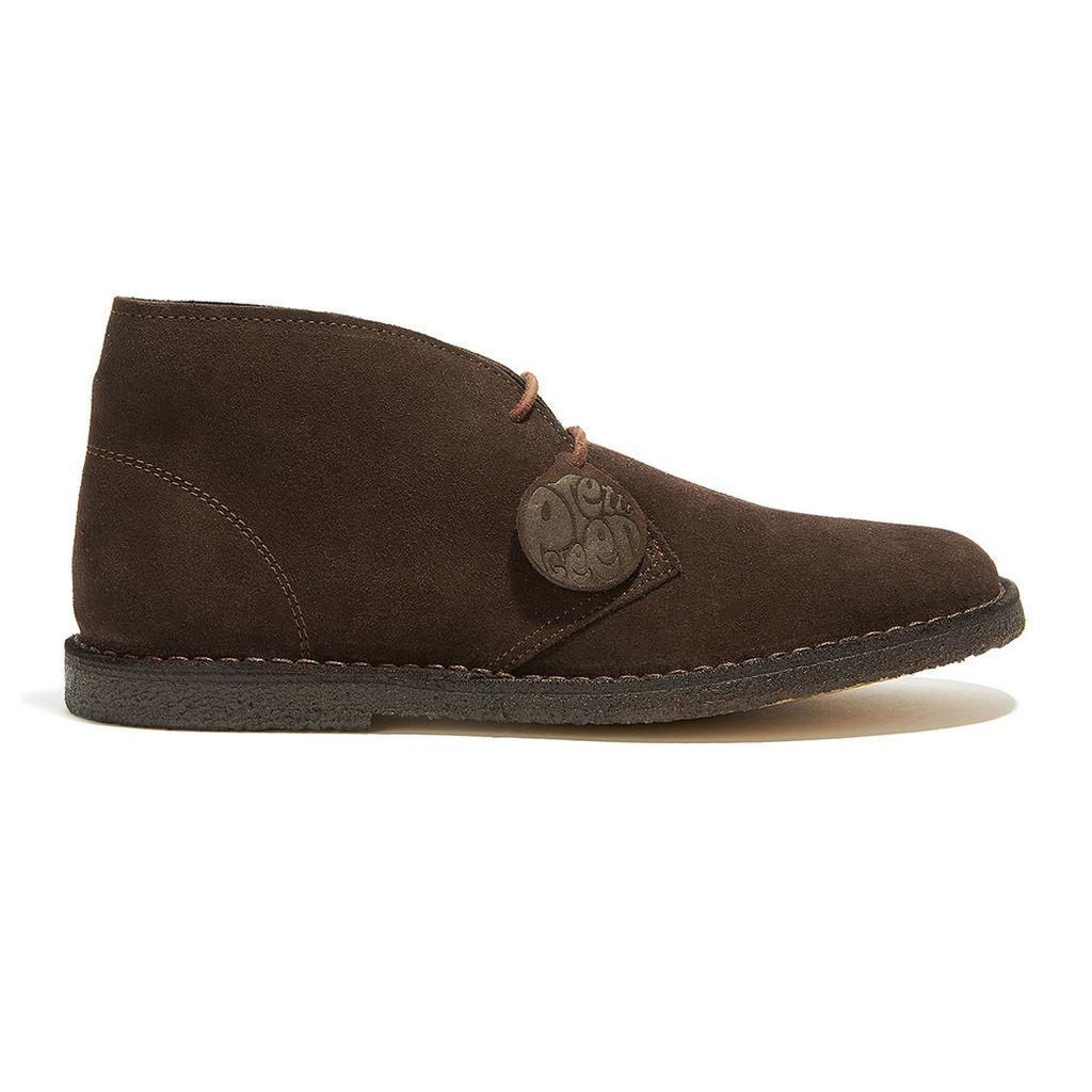 Pretty Green Men's Desert Boots - Brown - Uk 11
