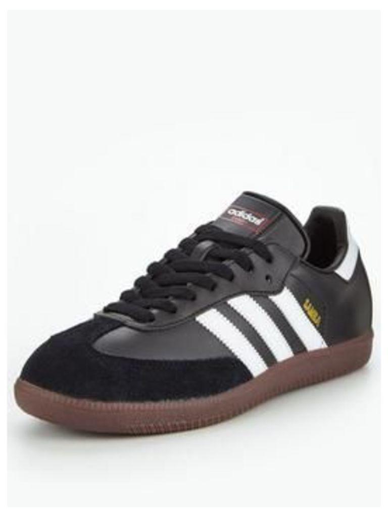 adidas Originals Samba, Black/White/Gum, Size 9, Men