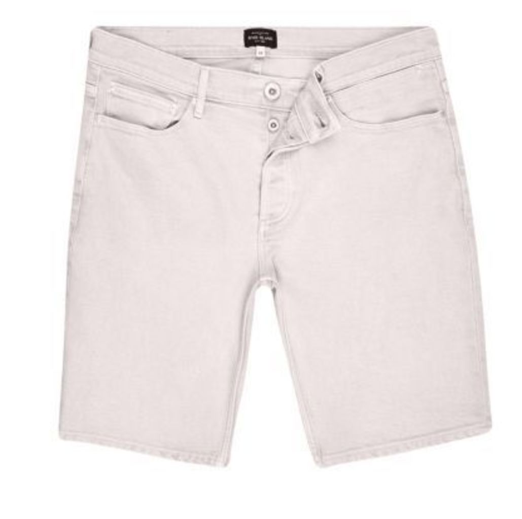 River Island Mens Pink denim shorts