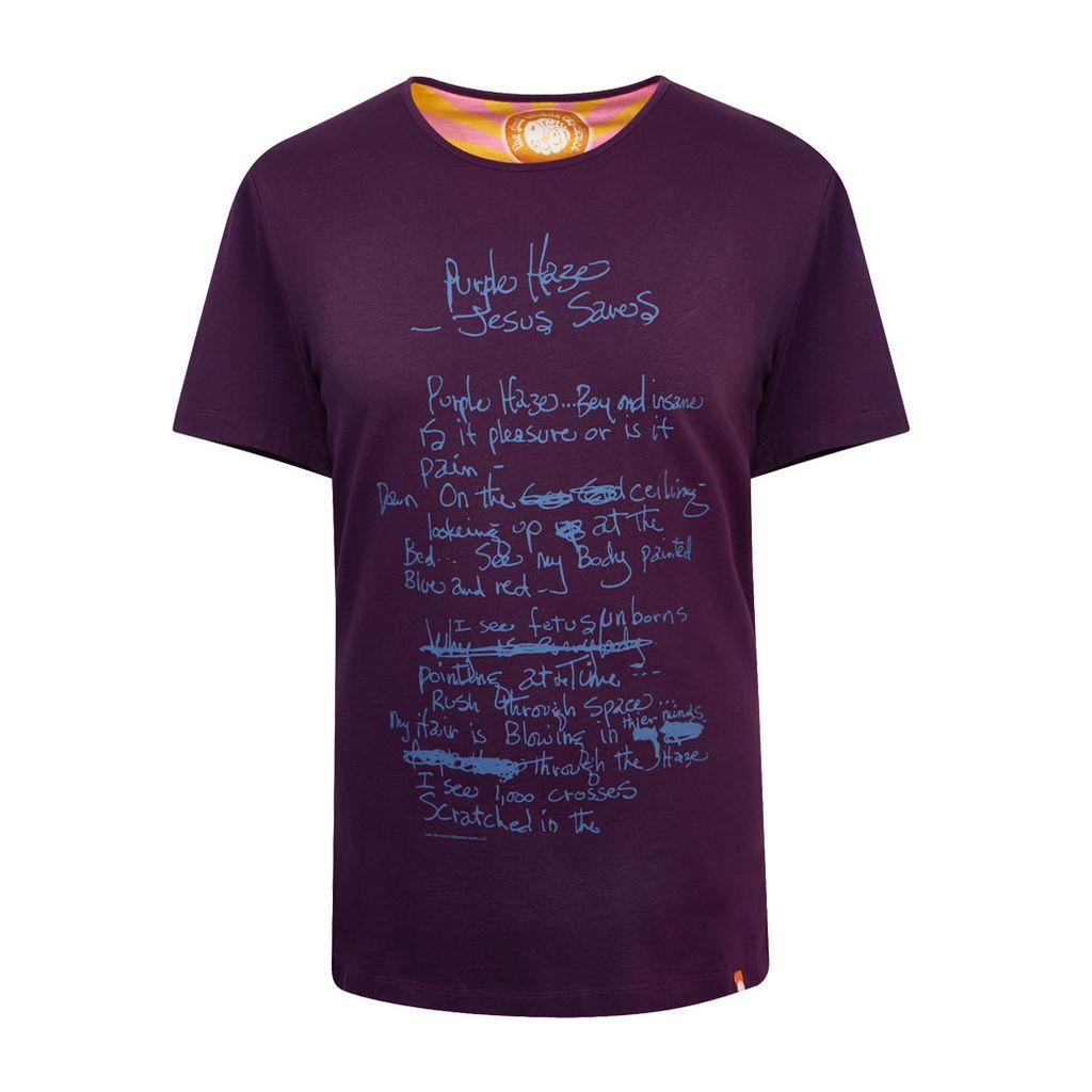 Pretty Green Men's Purple Haze T-Shirt - Navy - L