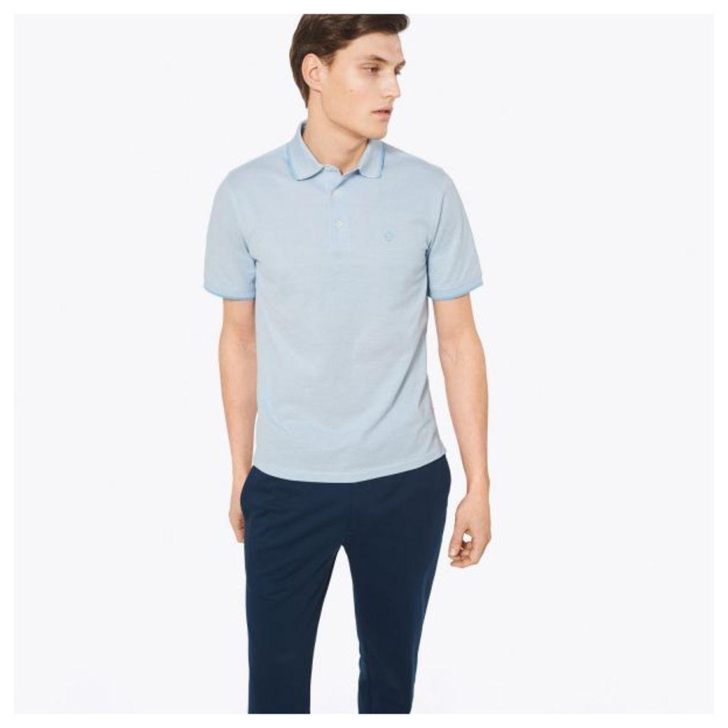 Pima Cotton Polo Shirt - Hamptons Blue