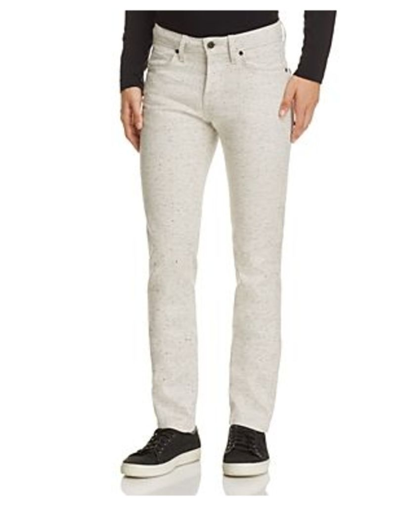 Naked & Famous Superskinny Guy Speckled Super Slim Fit Jeans in White