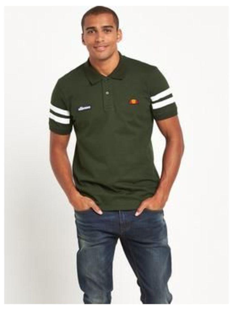 Ellesse Polo Shirt, Khaki, Size S, Men