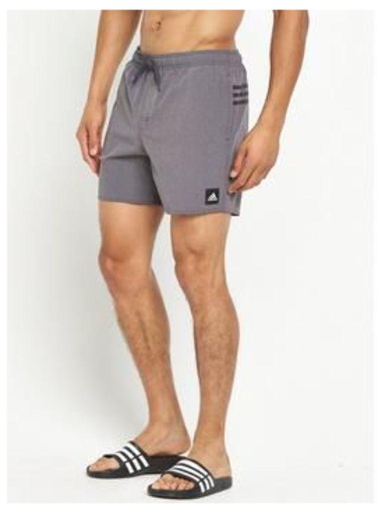 adidas 3S Swim Shorts, Black, Size M, Men