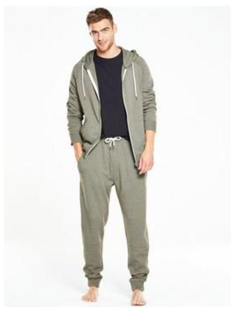 V by Very Loungewear Hoodie, Khaki, Size S, Men