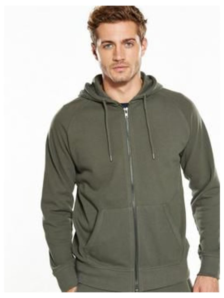 V by Very Pique Hooded Top, Khaki, Size 2Xl, Men