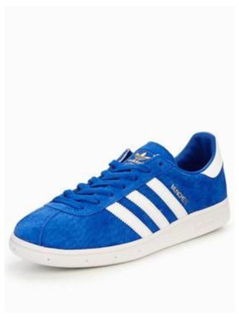 adidas München, Blue/White, Size 10, Men