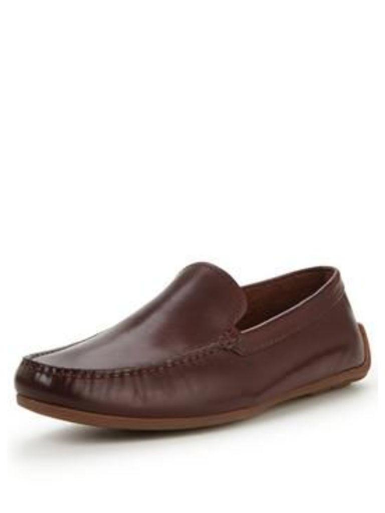 Clarks REAZOR EDGE LOAFER, British Tan, Size 10, Men