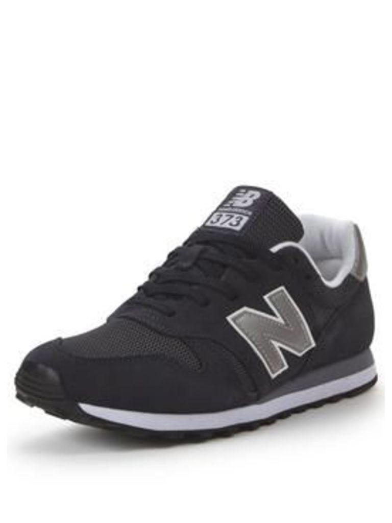 New Balance 373 Trainers, Dark Grey, Size 9, Men