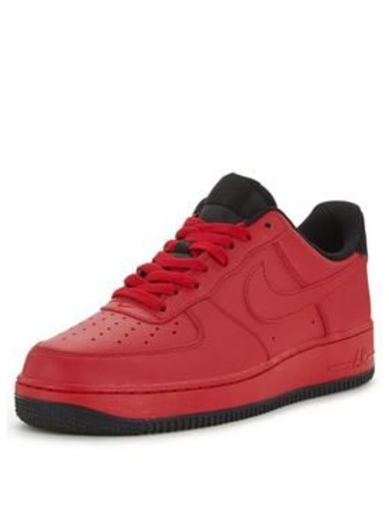 Nike Air Force 1 '07 Leather, Red, Size 10, Men
