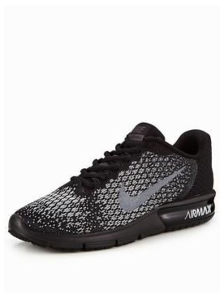 Nike Air Max Sequent 2, Black Multi, Size 12, Men