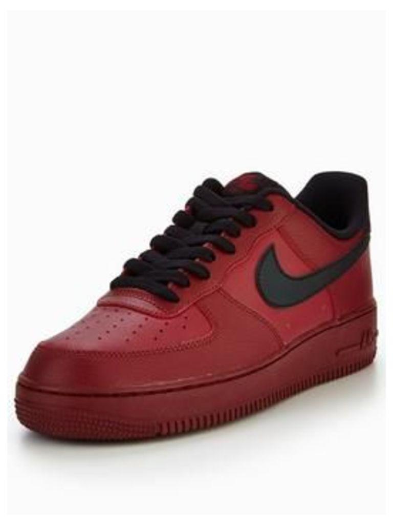 Nike Air Force 1 '07, Red/Black, Size 12, Men