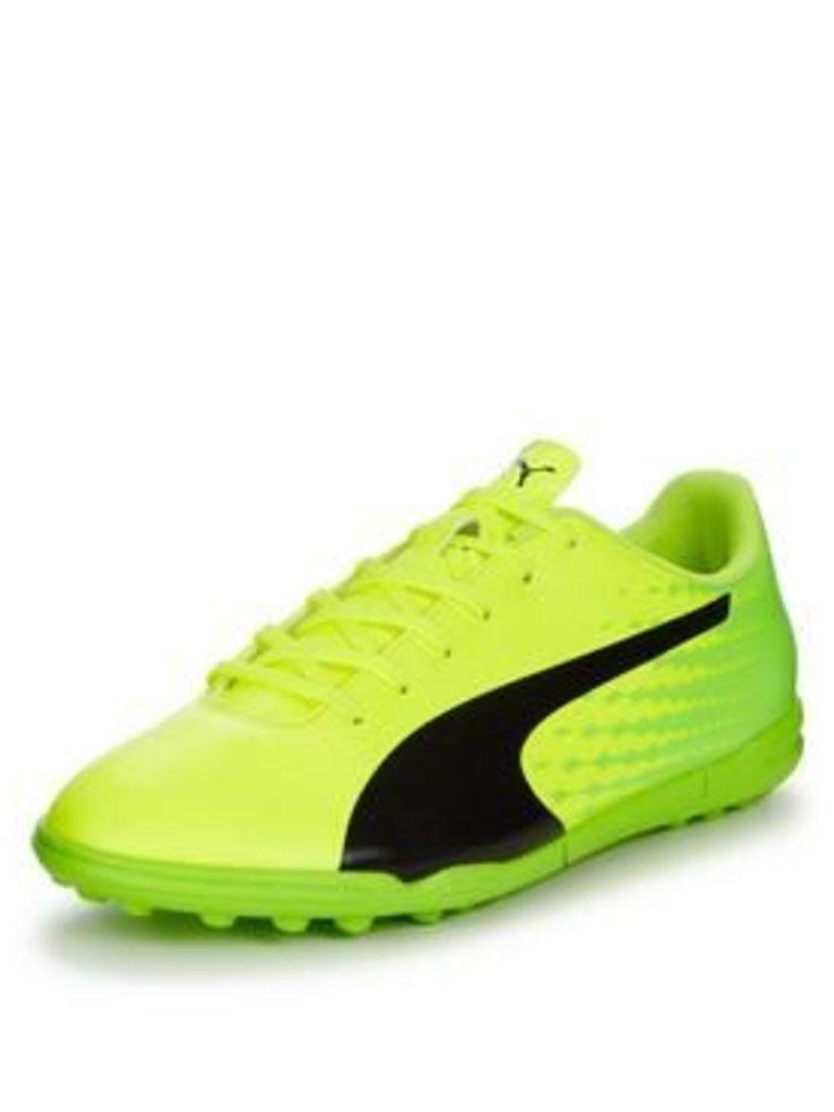 Puma Puma evoSPEED Mens 17.5 Astro Turf Football Boot, Yellow/Green, Size 9, Men