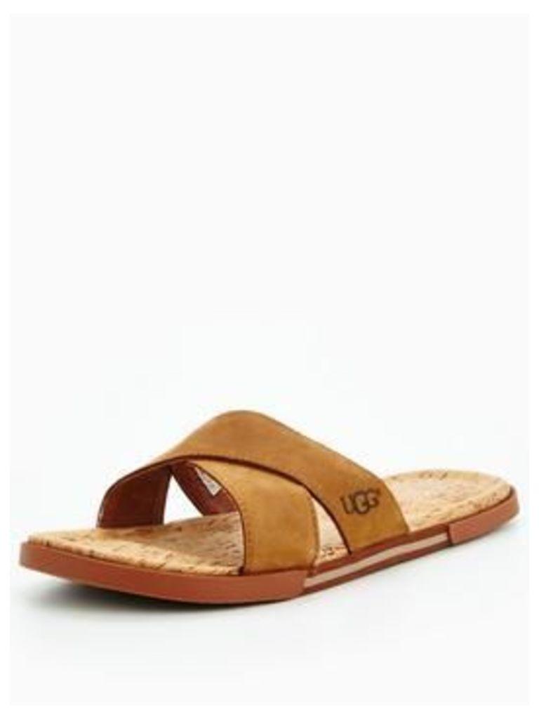 UGG ITHAN CORK MULE, Tan, Size 10, Men