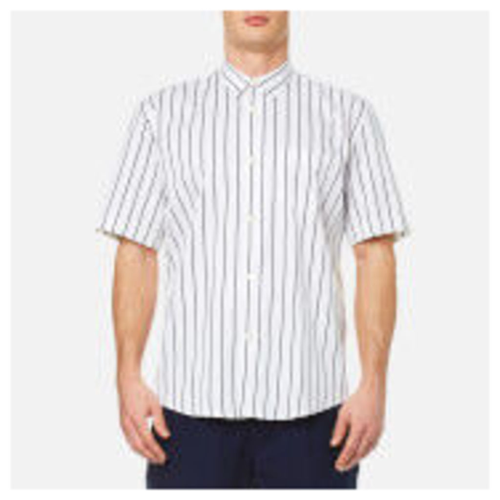 Our Legacy Men's Initial Short Sleeve Shirt - Blue/White Stripe