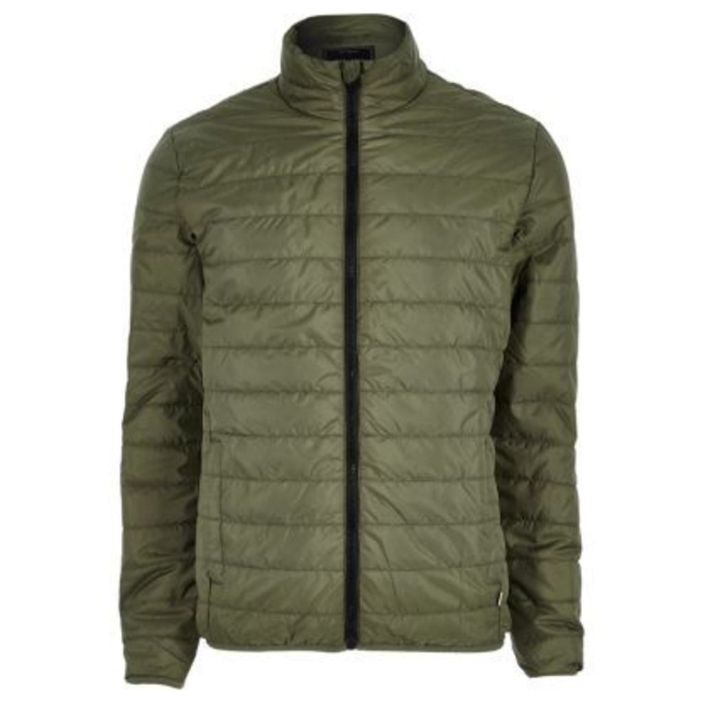 River Island Mens Green Only & Sons quilted jacket