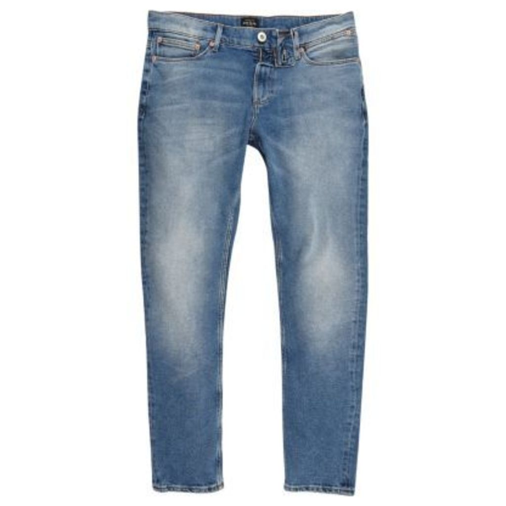 River Island Mens Light Blue skinny fit Sid jeans