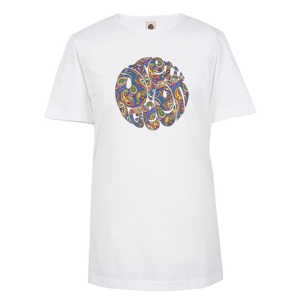 Pretty Green Men's Paisley Logo T-Shirt - White - L