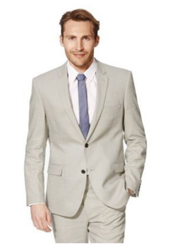 F&F Linen Blend Regular Fit Suit Jacket, Men's, Size: 36 Chest regular length