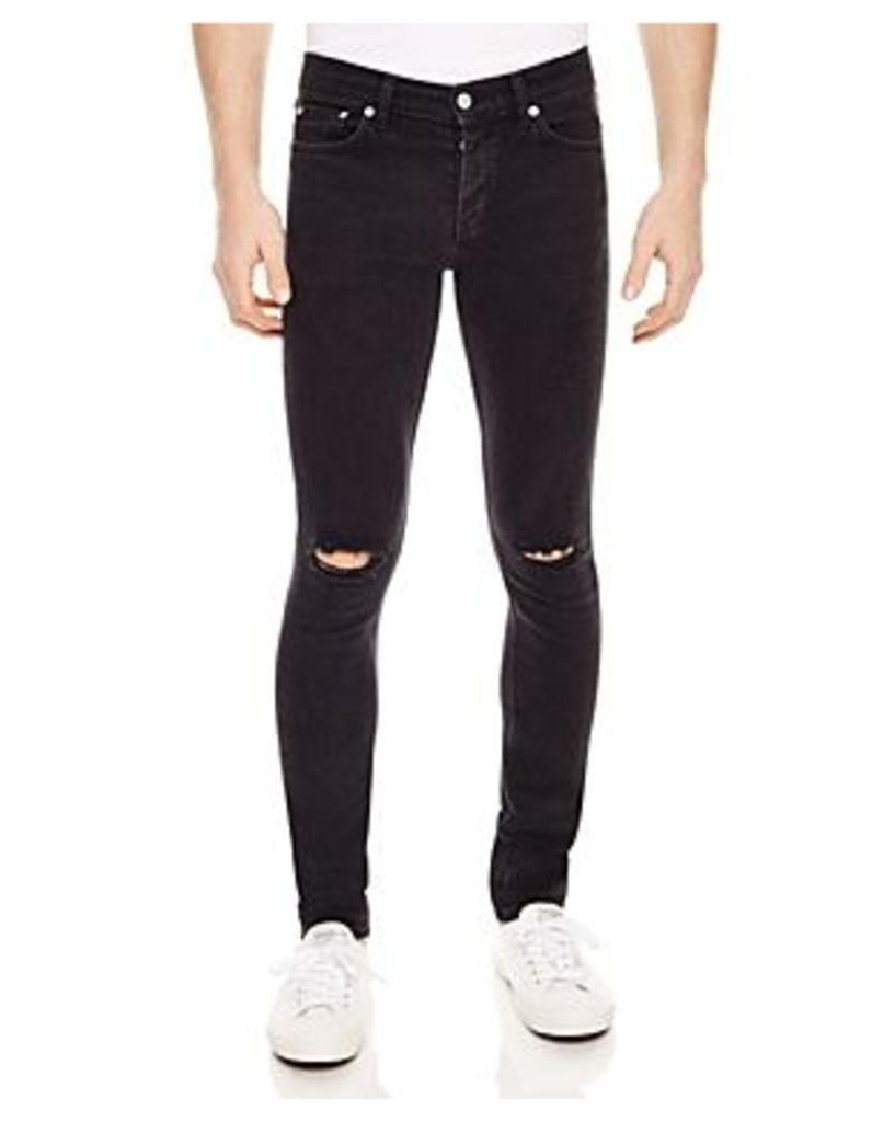 Sandro Iggy Destroyed Slim Fit Jeans in Black