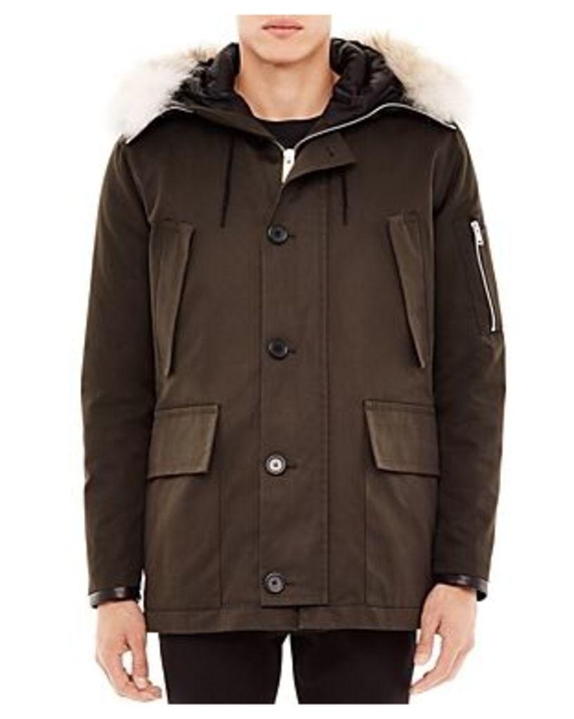 Sandro Antarctic Fur Trim Parka