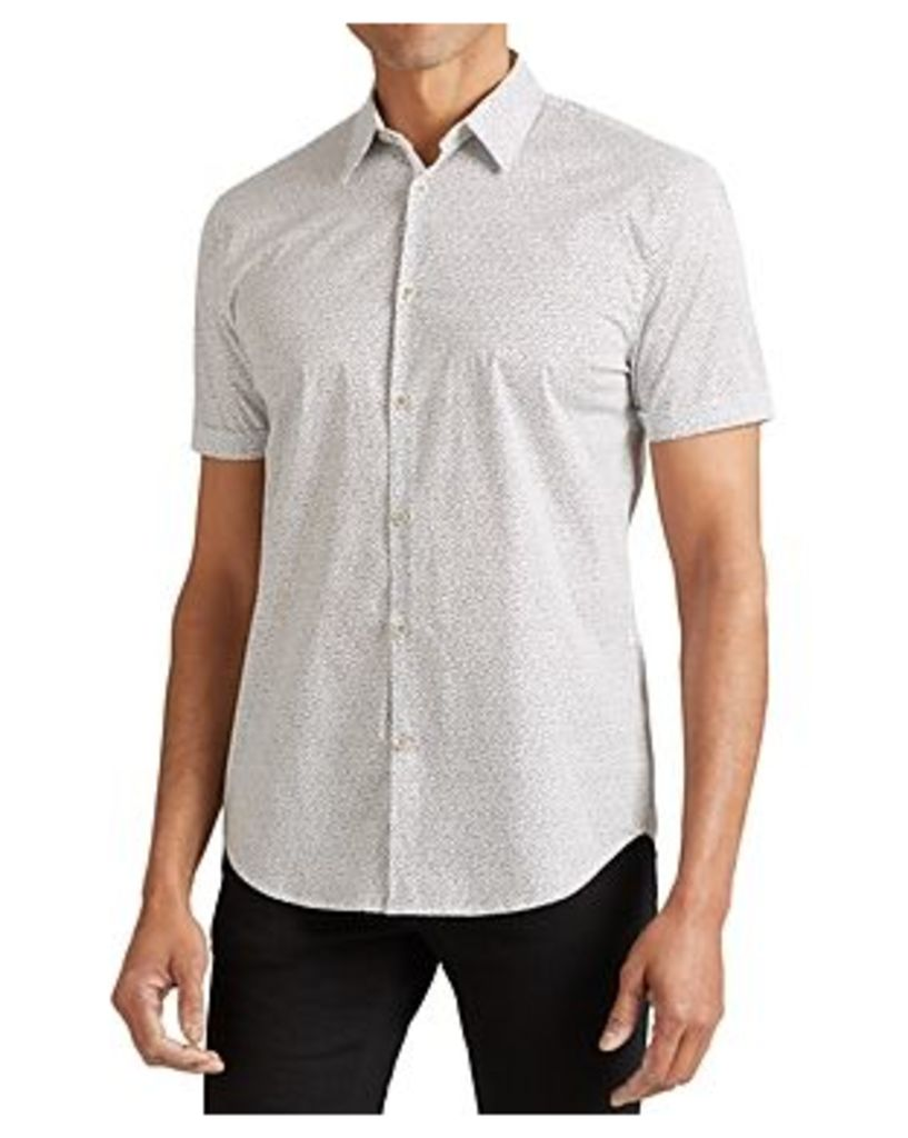 John Varvatos Star Usa Confetti Short Sleeve Slim Fit Button-Down Shirt